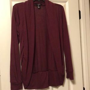 Forever 21 Sweaters - burgundy cardigan